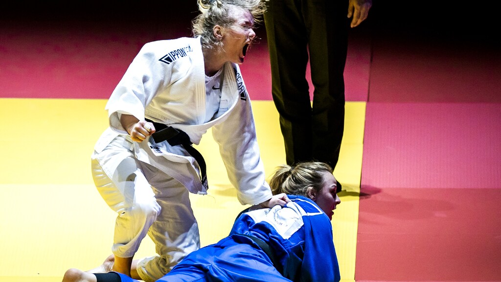 Sunny Van Dyck during the European Championships.