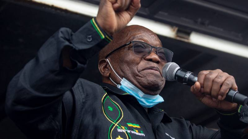 Ex-President Zuma reports to prison before deadline