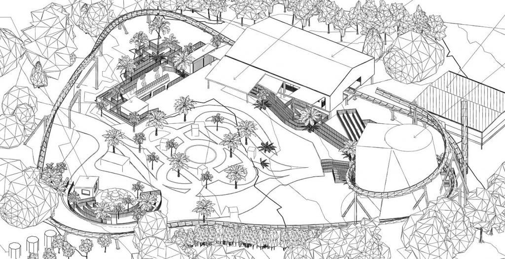 English theme park building plans refer to the unique roller coaster concept