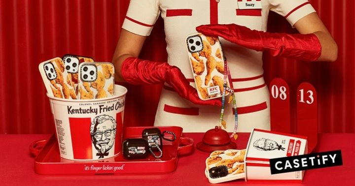 CASETiFY campaign launched, in partnership with KFC to become a Finger Lickin' Good Technology accessory.