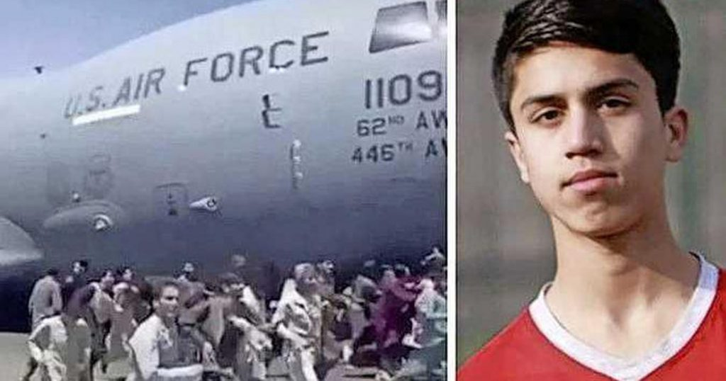 An Afghan football talent was killed during a flight from Kabul by a military plane    football