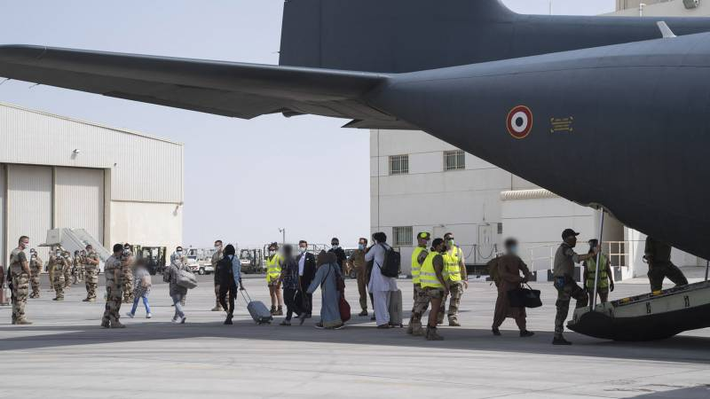 """France already set up a """"humanitarian air bridge"""" for Afghans in June"""