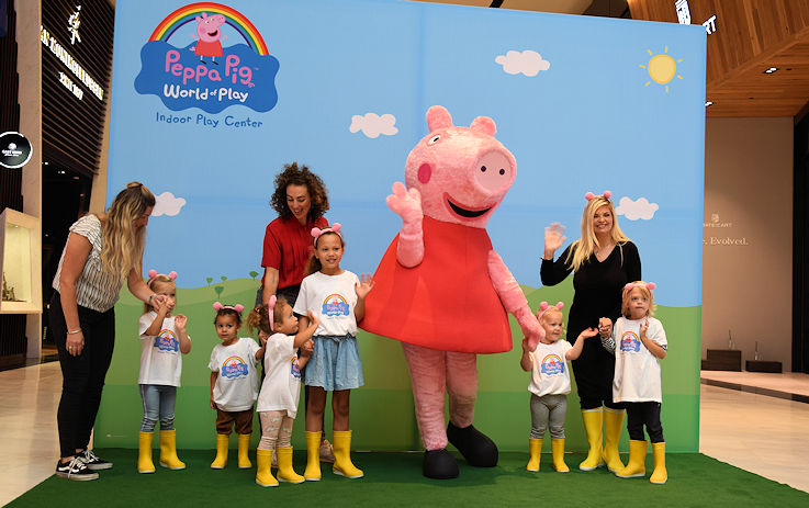 The first Peppa Pig World of Play game in Europe for Westfield Mall in the Netherlands