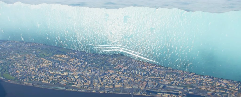 A stunning visualization of an ice age that unexpectedly resembles The Wall from Game of Thrones