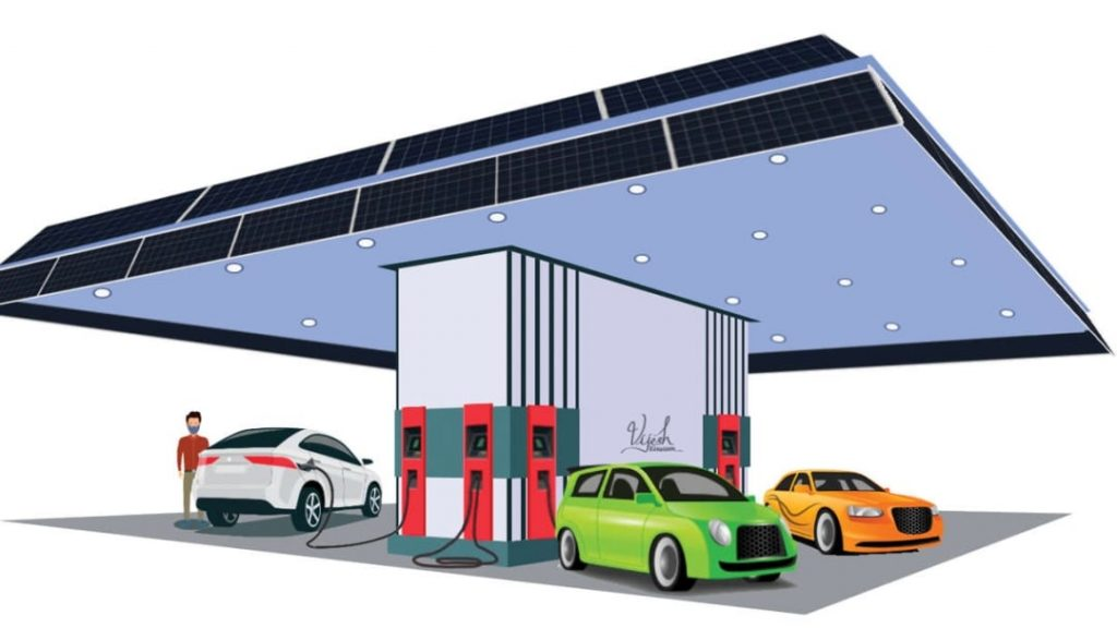 Are you ready to start an electric car charging station?  Support guarantee up to Rs 10 lakh    Solar electric vehicle charging stations