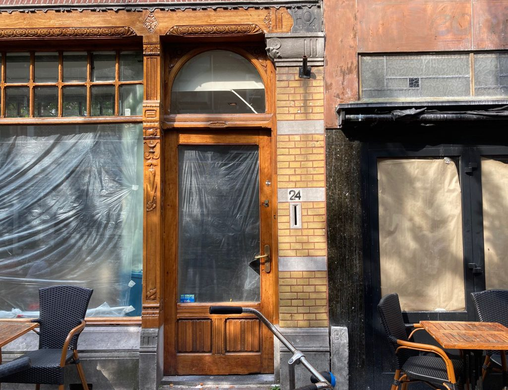 amazing!  This will be in the old building of the Leonidas Lunchroom in Choorstraat