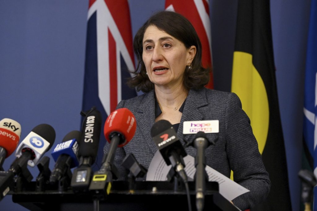 The Prime Minister of the Australian state of New South Wales has resigned...