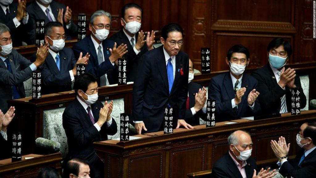 Fumio Kishida takes office as Japan's new prime minister