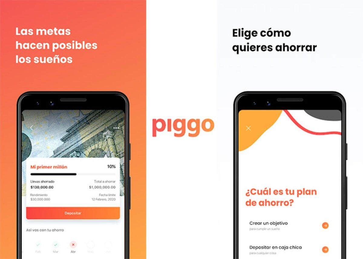 Piggo: choose how you want to save