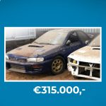 Barnfind turns out to be a Subaru Colin McRae and produces €300,000